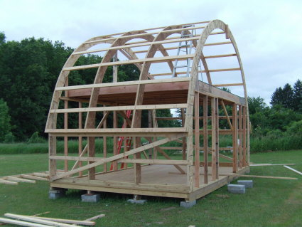 Wood Haven Truss Curved Trusses Storage Building Home